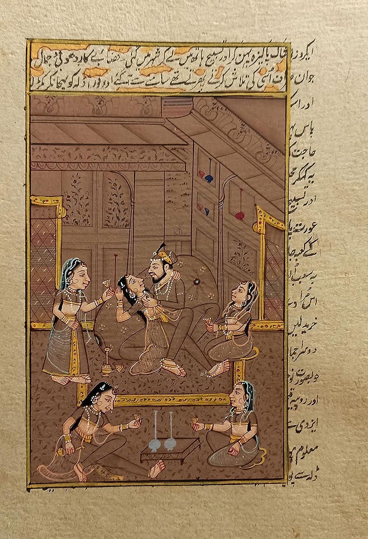 Mughal Beauty products Badshah Shahklam Massive Painting Harem Miniatur Handmade Ranking TOP7