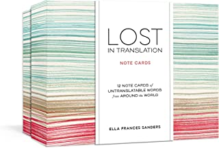 Lost in Translation Note Cards: Untranslatable Words from Around the World