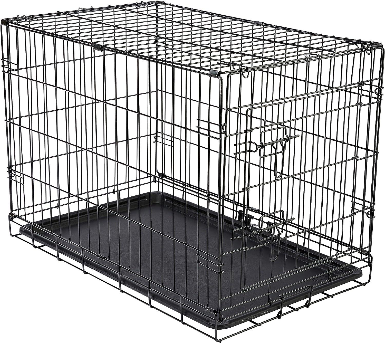 Cheeko Fold Flat Dog Crate with Door, Small