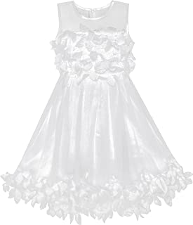 子供ドレス 可愛くドレス のお嬢様ドレス ライン ハンドバッグ 白 110/115/125/130/140cm