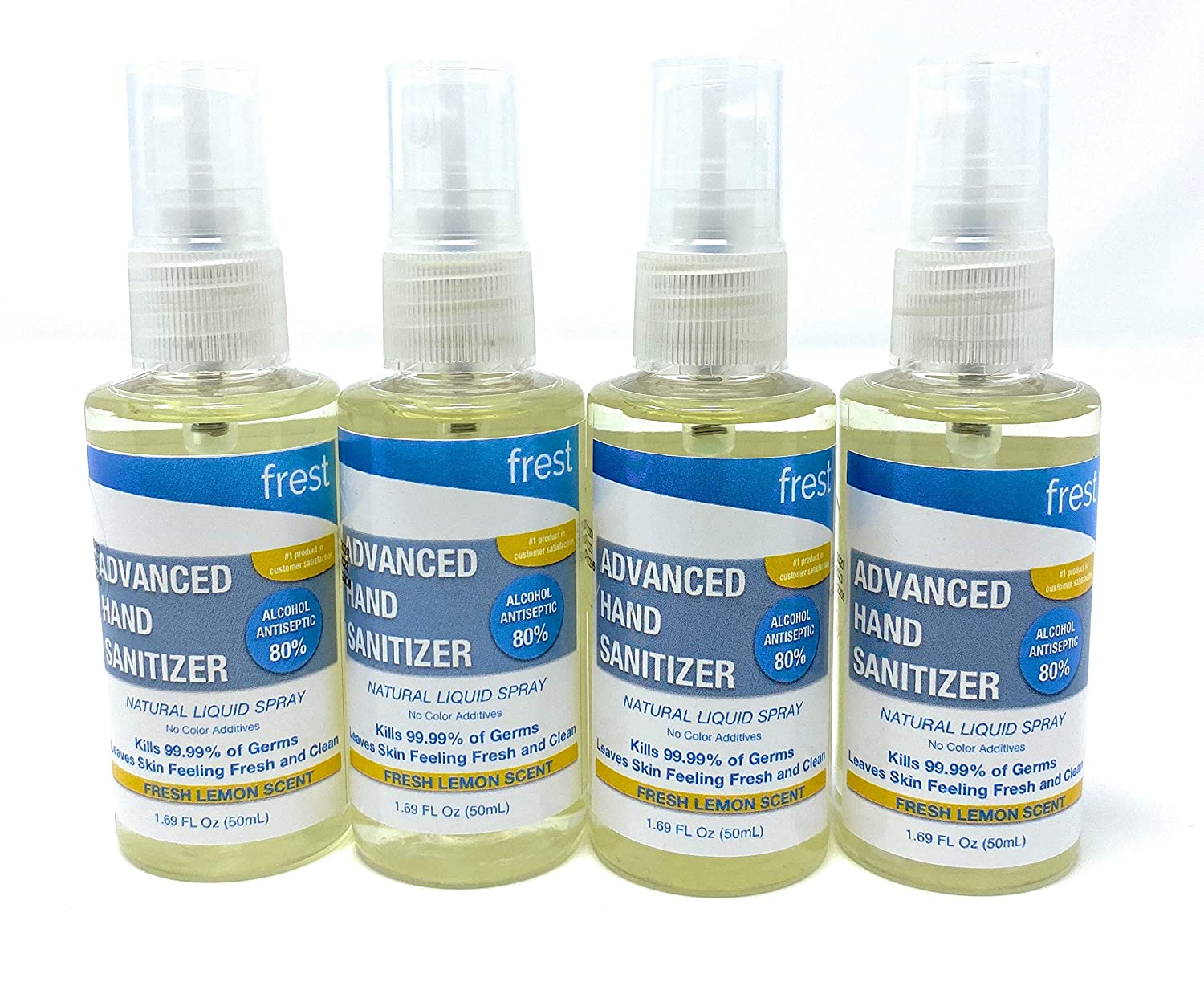 Tulsa Mall 4 Pack - Frest Natural 80% Based OFFicial site Hand Sanitizer Alcohol Ethyl