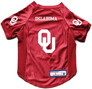 Littlearth NCAA Oklahoma Sooners Pet Stretch Jersey, Small