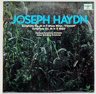 Joseph Haydn: Symphony 45 in F Sharp Minor,