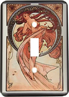 3dRose lsp/_203974/_6Print Of Champagne Ad By Alphonse Mucha 2 Plug Outlet Cover