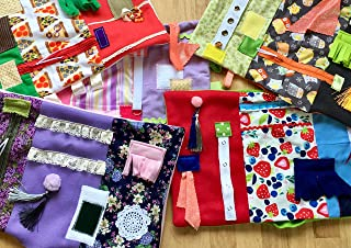 Fidget Blanket for Dementia | MEMORY CARE WHOLESALE LOT | FREE EMBROIDERY | NEW LOWER PRICE for #6 | Fidget Quilt | Alzheimer's Blanket by Restless Remedy