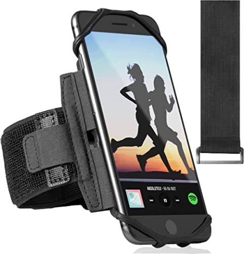 360° Rotatable Premium Sports Running Armband for All Phones: iPhone 12, 12 Pro Max 11 Pro 8 Plus, Samsung Galaxy S20...