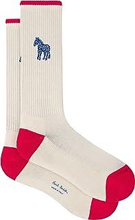 PS by Paul Smith Men's Sock Zebra, White, One Size