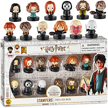 Self-Inking Harry Potter Stampers, Set of 12 – Harry Potter Gifts, Collectables, Party Decor, Cake Toppers – Ron Weasley, Hermione Granger, Sybil Trelawney, and More by PMI, 2.5 in. Tall