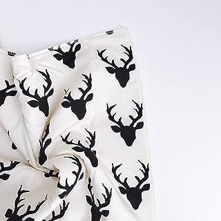 Handmade Faux Wool Deer Antler Baby Blanket