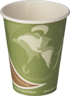 Eco-Products ECOEPBRHC12EWPK Evolution World PCF Hot Cups, Post-Consumer Fiber, Recycled, 12 oz (Pack of 50)