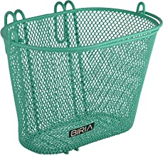 Biria Basket with Hooks Green, Front, Removable, Children Wire mesh Small Kids Bicycle Basket, New, Green