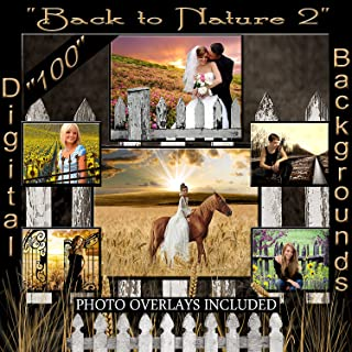 Digital Backgrounds Back to Nature Images Photo Backdrops Plus psd Sandwich Layered Digital Studio Photo Props 1Q2