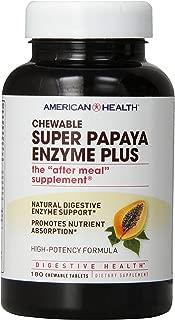 American Health Probiotic Enzyme Plus, Super Papaya, 180 Count