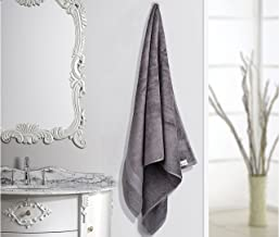 Turkish Bath Solid 710 GSM Cotton Bath Towel - Grey