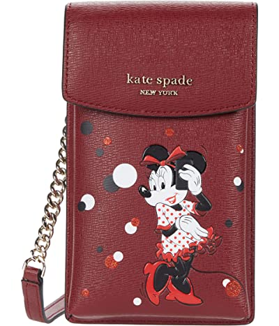 Kate Spade New York Minnie Mouse North/South Crossbody for iPhone(r) (Red Multi) Cell Phone Case