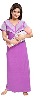 c6e465e4581af TUCUTE Women's Beautiful Dotted Print Feeding/Maternity/Nursing  Nighty/Nightwear.