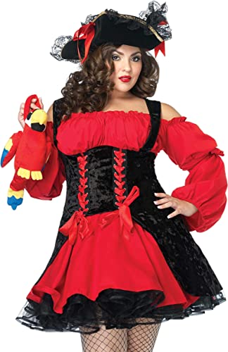 Leg Avenue Costume Pirate Sanguinaire Noir Rouge 3X-4X