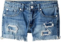 7 For All Mankind Kids Denim Shorts in Melbourne Sky (Big Kids)