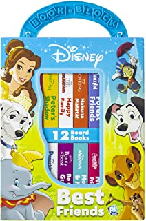 Disney Lion King, Moana, and more! - Best Friends My First Library Board Book Block 12-Book Set - PI Kids