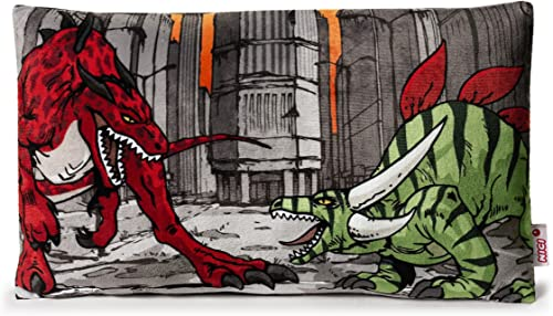 precio al por mayor NICI - Cojín de de de Peluche Impreso con Criatura, 43 x 25 cm, Color rojo y verde (38362)  almacén al por mayor