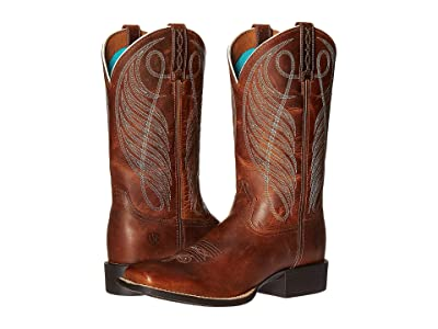 Ariat Round Up Wide Square (Powder Brown) Cowboy Boots
