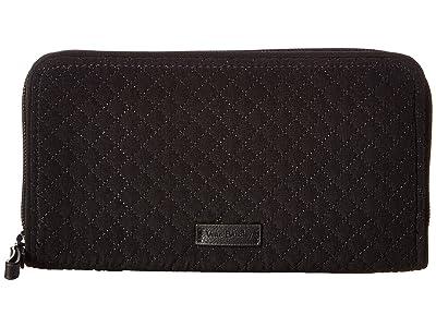 Vera Bradley Iconic RFID Georgia Wallet (Classic Black) Wallet Handbags