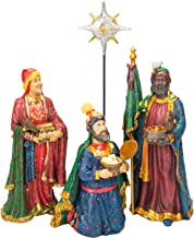 Set of 4 Following Star with Gifts 12 inch Resin Stone Nativity Figurines