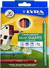 Lápices de colores lacados de colores de LYRA Gigantes, Multicolor, Juego de 12