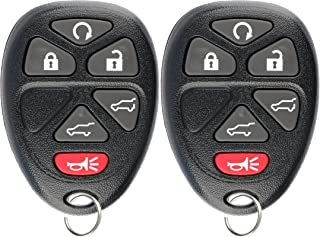 KeylessOption Keyless Entry Remote Control Car Key Fob Replacement for OUC60221, 15913427 (Pack of 2)
