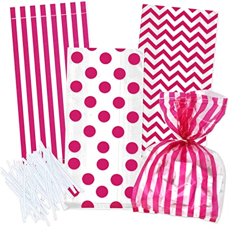 Birthday Party Snack Bag Cute Favor Bag 12Pcs Cute Pink Hello Kitty Cellophane Bag Cookie Bag