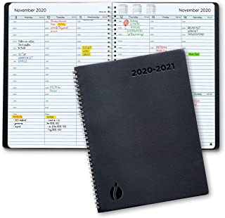 Academic Planner 2020-2021 - Hourly 2020-2021 Planner Weekly and Monthly. Flexible Cover, Twin-Wire Binding. Simple Design Inspires Productivity. July 2020 - August 2021. 6.5 x 8.5