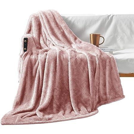 Oversized Plush Throw Blankets Blush Rose Damask 50 by 70