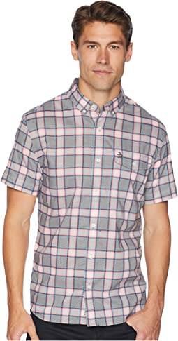 Short Sleeve Electric Dobby Check