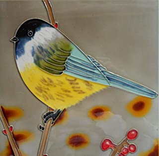 Tile Craft chicadee Ceramic Art Tile 8 x 8 inches Easel Back