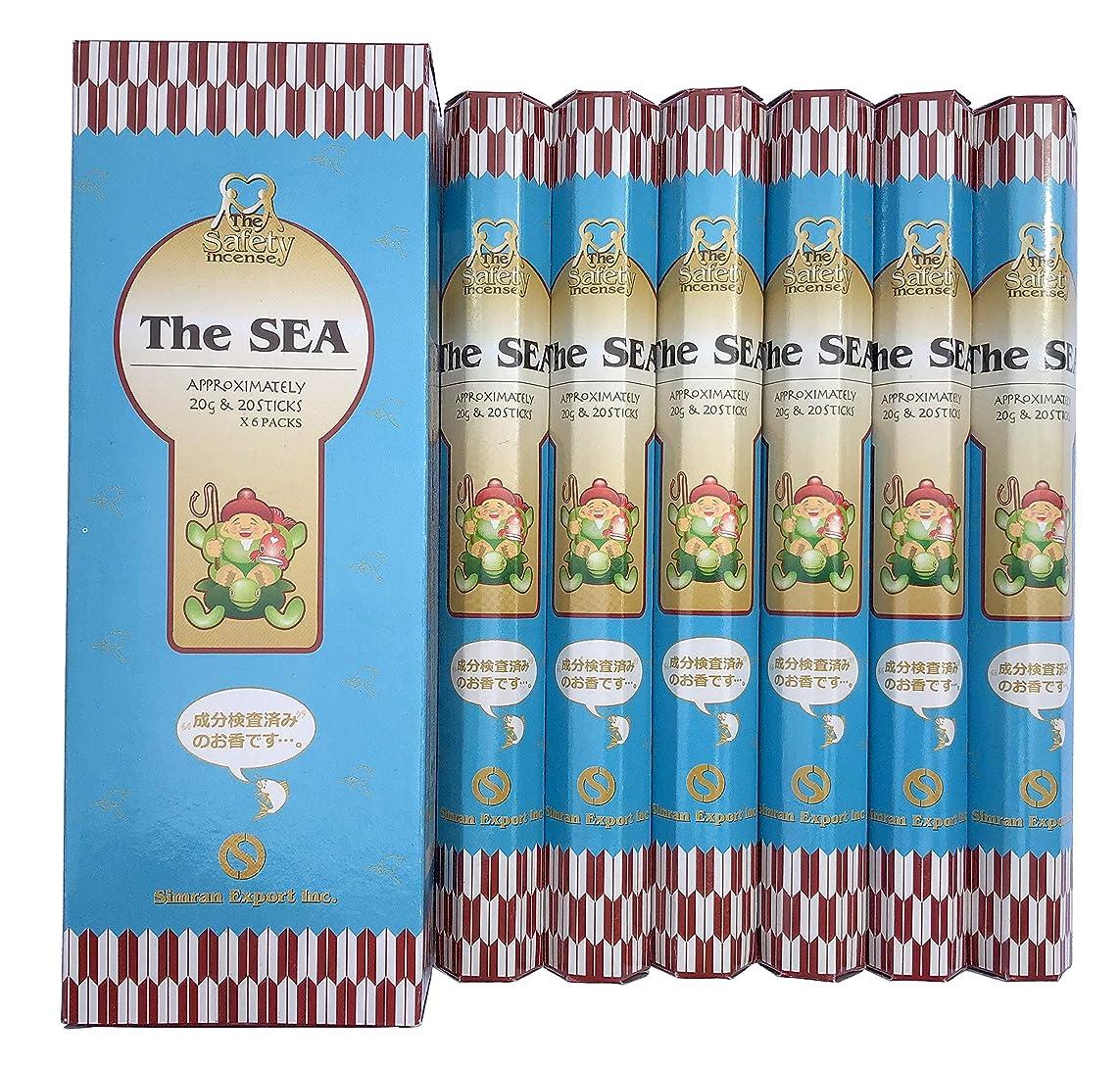感心するギャザーくびれたインド香 The SEA ザ?シー 潮風の香り スティック 6個セット シムラン社 成分検査済み