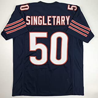 Unsigned Mike Singletary Chicago Blue Custom Stitched Football Jersey Size Men's XL New No Brands/Logos