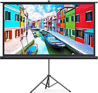 TaoTronics Projector Screen with Stand,Indoor Outdoor PVC Projection Screen 4K HD 100'' 16: 9 Wrinkle-Free Design(Easy to ...