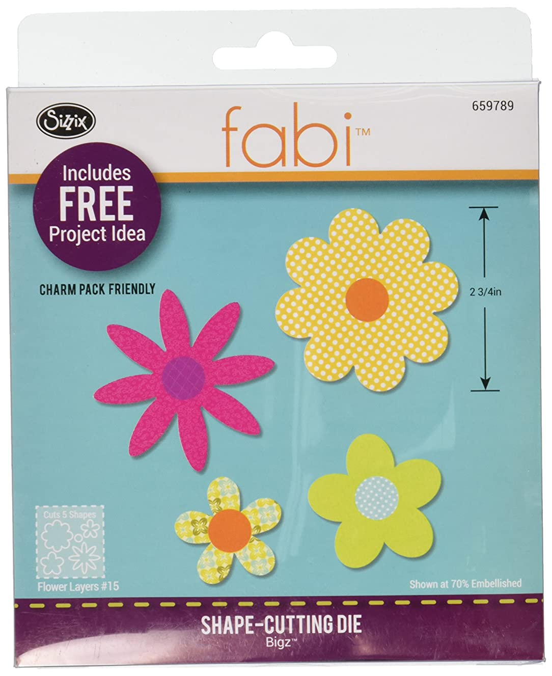 Sizzix Fabi Bigz, Flower Layers #15, Steel Rule Die