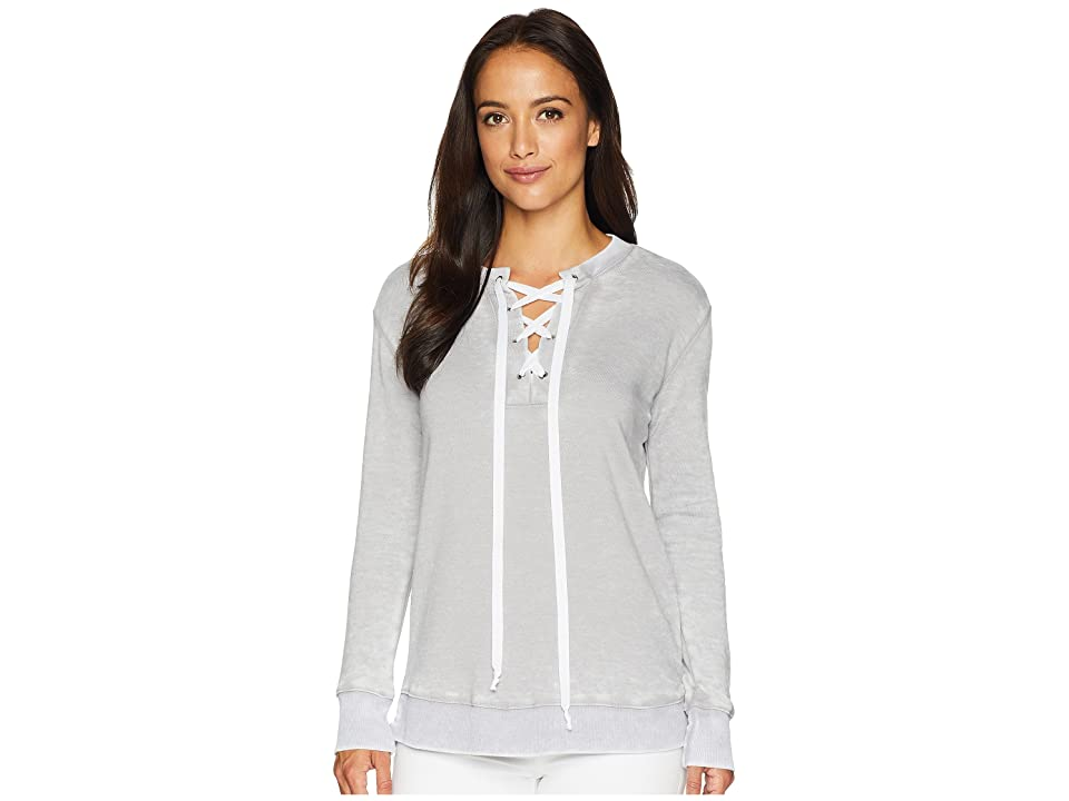 Allen Allen Lace-Up Sweatshirt (Pale Grey) Women