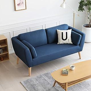 Mc Haus EVY - Sofá nórdico 2 plazas Cómodo color Azul