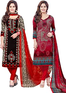Salwar Studio Women's Pack of 2 Synthetic Unstitched Dress Material Combo-MONSOON-2158-2160