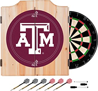 NCAA Texas A&M University Wood Dart Cabinet Set