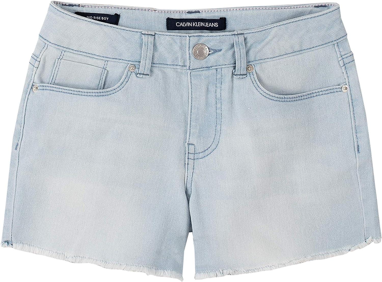 Calvin All items in the store Klein Girls Cut-Off Denim Stratus 5 Boyfriend Short New Free Shipping S20