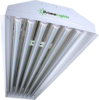 6 Bulb/Lamp T8 LED High Bay Warehouse, Shop, Commercial Light Fixture by PrimeLights