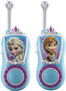 eKids Disney Frozen Chill 'n' Chat Anna & Elsa Character FRS Walkie Talkies Easy to Use & Static Free