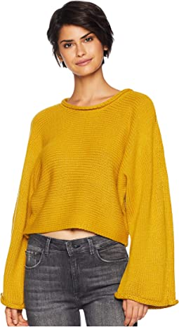 BB Talk Jersey Stitch Cropped Sweater