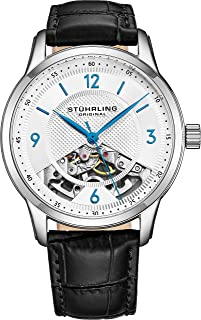 Stuhrling Original Men's 977.01 Legacy Analog Display Mechanical Hand Wind Black Watch