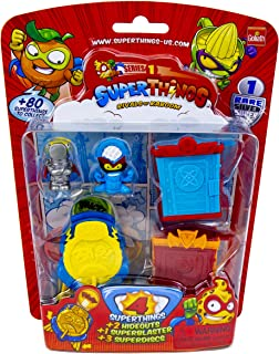 SuperThings Series 1 - Blister Pack (4) by Goliath - Contains 3 Characters, 1 Rare Silver Character, 2 Hideouts, 1 Super Blaster & 3 Super Discs, 108683
