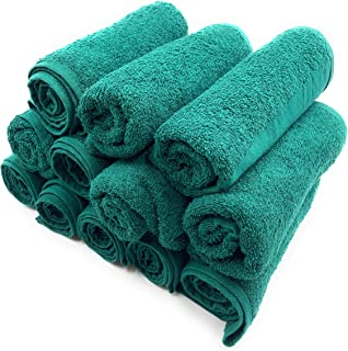 red salon towels