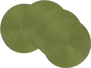 Now Designs Disko Round Placemats, Set of Four, Fir Green